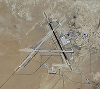 aerial map of Naval Air Weapons Station China Lake airport (NID), China Lake, Kern County, California
