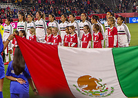CARSON, CA - FEBRUARY 7: The Mexican Women's national team starting eleven during a game between Mexico and USWNT at Dignity Health Sports Park on February 7, 2020 in Carson, California.