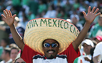Mexico fan. Mexico defeated Nicaragua 2-0 during the First Round of the 2009 CONCACAF Gold Cup at the Oakland, Coliseum in Oakland, California on July 5, 2009.