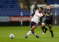 Bolton Wanderers' Brandon Comley competing with Newcastle United U21's Elliot Anderson<br /> (right) <br /> <br /> Photographer Andrew Kearns/CameraSport<br /> <br /> EFL Papa John's Trophy - Northern Section - Group C - Bolton Wanderers v Newcastle United U21 - Tuesday 17th November 2020 - University of Bolton Stadium - Bolton<br />  <br /> World Copyright © 2020 CameraSport. All rights reserved. 43 Linden Ave. Countesthorpe. Leicester. England. LE8 5PG - Tel: +44 (0) 116 277 4147 - admin@camerasport.com - www.camerasport.com
