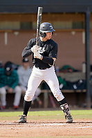 Braden Durham (6) of the University of South Carolina Upstate Spartans bats in the Green and Black Fall World Series Game 2 on Saturday, October 31, 2020, at Cleveland S. Harley Park in Spartanburg, South Carolina. Green won, 6-5. (Tom Priddy/Four Seam Images)