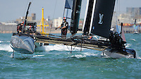 SoftBank Team Japan, JULY 23, 2016 - Sailing: SoftBank Team Japan in action in light winds during day one of the Louis Vuitton America's Cup World Series racing, Portsmouth, United Kingdom. (Photo by Rob Munro/Stewart Communications)