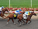 October 3, 2010.Rigoletta riden by David Flores wins The Oak Leaf Stakes at Hollywood Park, Inglewood, CA