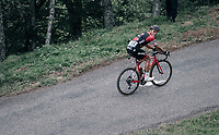 Greg Van Avermaet (BEL/BMC) up the Mur de Péguère (Cat1/1375m/9.3km/7.9%)<br /> <br /> 104th Tour de France 2017<br /> Stage 13 - Saint-Girons › Foix (100km)