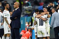 2nd July 2021; Allianz Arena, Munich, Germany; European Football Championships, Euro 2020 quarterfinals, Belgium versus Italy; Lorenzo Insigne celebrates his goal for 2-0