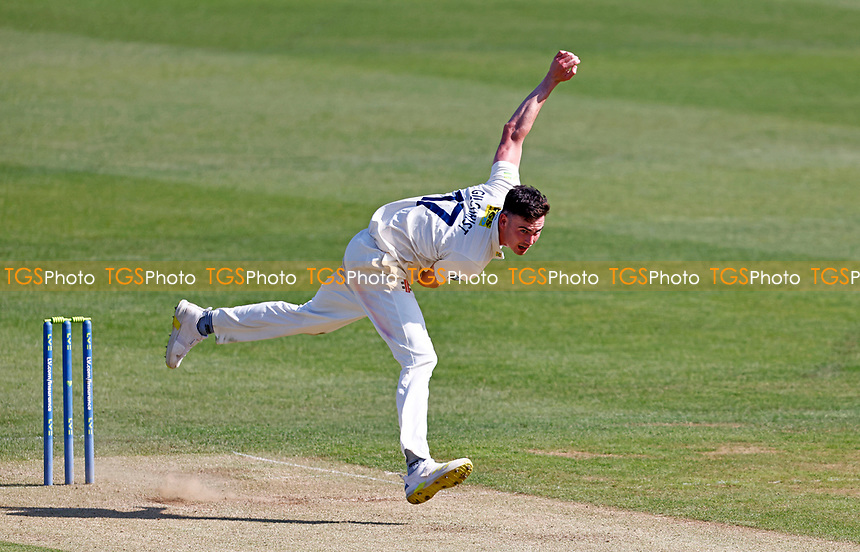Nathan Gilchrist bowls for Kent during Kent CCC vs Northamptonshire CCC, LV Insurance County Championship Group 3 Cricket at The Spitfire Ground on 3rd June 2021