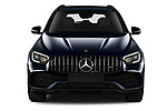 Car photography straight front view of a 2021 Mercedes Benz GLC AMG-43 5 Door SUV Front View