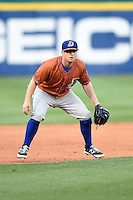 Durham Bulls third baseman Robby Price (6) during a game against the Buffalo Bisons on July 10, 2014 at Coca-Cola Field in Buffalo, New  York.  Durham defeated Buffalo 3-2.  (Mike Janes/Four Seam Images)