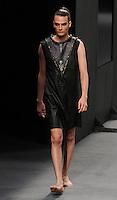 MEDELLIN -COLOMBIA-22-Julio -2014.  Colombia Moda, pasarela NonStop-Caracol, diseñador Bastardo./ Colombia Fashion NonStop-Caracol  catwalk designer Bastardo.  Photo: VizzorImage / Luis Rios / Stringer