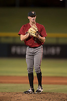 AZL Diamondbacks relief pitcher Harrison Francis (38) prepares to deliver a pitch during an Arizona League game against the AZL Cubs 1 at Sloan Park on June 18, 2018 in Mesa, Arizona. AZL Diamondbacks defeated AZL Cubs 1 7-0. (Zachary Lucy/Four Seam Images)