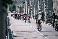 breakaway group forming very early in the race <br /> <br /> stage 13 Ferrara - Nervesa della Battaglia (180km)<br /> 101th Giro d'Italia 2018