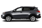Car driver side profile view of a 2013 Toyota rav4 limited Select Doors Door SUV