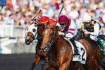 ARLINGTON HEIGHTS,IL-AUGUST 11: Sir Anthony,ridden by Florent Geroux,wins the Bruce D. Memorial Stakes at Arlington International Race Track on August 11,2018 in Arlington Heights,Illinois (Photo by Kaz Ishida/Eclipse Sportswire/Getty Images)