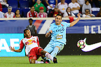 Harrison, NJ - Thursday Sept. 15, 2016: Tyler Adams, Rodolfo Zelaya during a CONCACAF Champions League match between the New York Red Bulls and Alianza FC at Red Bull Arena.