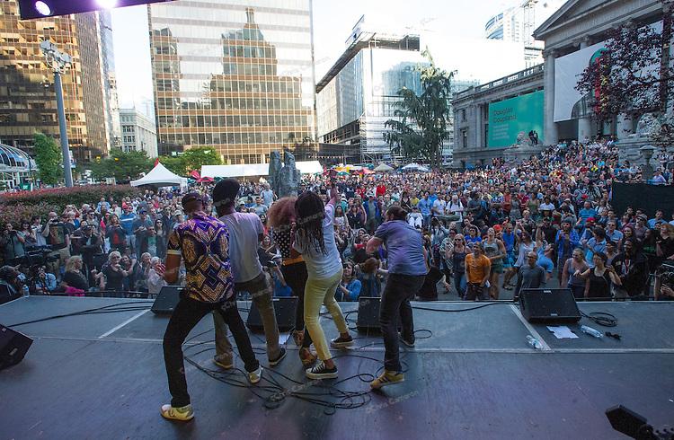Nomadic Massive at Robson Square June 22, 2014 TD Vancouver International Jazz Festival