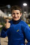 DUBAI,UNITED ARAB EMIRATES-MARCH 24:  Shane Foley ,the jockey of Dios Corrida (Dubai Golden Shaheen) at Meydan Racecourse on March 24,2017 in Dubai,United Arab Emirates (Photo by Kaz Ishida/Eclipse Sportswire/Getty Images)