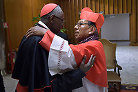 Cardinal Toribio Ticona Porco, Cardinal Robert Sarah,  Pope Francis leads a consistory for the creation of five new cardinals  at St Peter's basilica in Vatican on  June 28, 2018