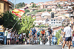 The breakaway during Stage 15 of La Vuelta d'Espana 2021, running 197.5km from Navalmoral de la Mata to El Barraco, Spain. 29th August 2021.     <br /> Picture: Charly Lopez/Unipublic | Cyclefile<br /> <br /> All photos usage must carry mandatory copyright credit (© Cyclefile | Unipublic/Charly Lopez)