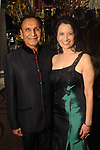 "From left: Dr. Suresh and Dr. Renu Khator at the San Luis Salute ""Hollywood Dinner Club"" in Galveston Friday Feb. 09,2018. (Dave Rossman Photo)"