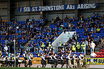St Johnstone v Lask…26.08.21  McDiarmid Park    Europa Conference League Qualifier<br />The Perth & Kinross District Pipe Band playing ahead of tonight's game<br />Picture by Graeme Hart.<br />Copyright Perthshire Picture Agency<br />Tel: 01738 623350  Mobile: 07990 594431