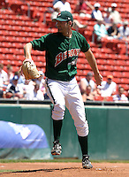 June 23, 2005:  Pitcher Billy Traber of the Buffalo Bisons during a game at Dunn Tire Park in Buffalo, NY.  Buffalo is the International League Triple-A affiliate of the Cleveland Indians.  Photo by:  Mike Janes/Four Seam Images