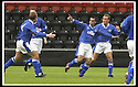 17/8/02               Copyright Pic : James Stewart                     .File Name : stewart-airdrie v stranraer 14.STRANRAER'S ALEX LURINSKI (11) CELEBRATES AFTER HE OPENS THE SCORING....James Stewart Photo Agency, 19 Carronlea Drive, Falkirk. FK2 8DN      Vat Reg No. 607 6932 25.Office : +44 (0)1324 570906     .Mobile : + 44 (0)7721 416997.Fax     :  +44 (0)1324 570906.E-mail : jim@jspa.co.uk.If you require further information then contact Jim Stewart on any of the numbers above.........