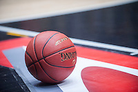 VALENCIA, SPAIN - NOVEMBER 3: Oficial ball during EUROCUP match between Valencia Basket Club and CAI Zaragozaat Fonteta Stadium on November 3, 2015 in Valencia, Spain