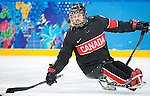 Sochi, RUSSIA - Mar 9 2014 -  Billy Bridges during Canada vs. Norway at the 2014 Paralympic Winter Games in Sochi, Russia.  (Photo: Matthew Murnaghan/Canadian Paralympic Committee)