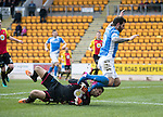 St Johnstone v Partick Thistle…11.02.17     Scottish Cup    McDiarmid Park<br />Richie Foster goes down after a collison with Tomas Cerny<br />Picture by Graeme Hart.<br />Copyright Perthshire Picture Agency<br />Tel: 01738 623350  Mobile: 07990 594431