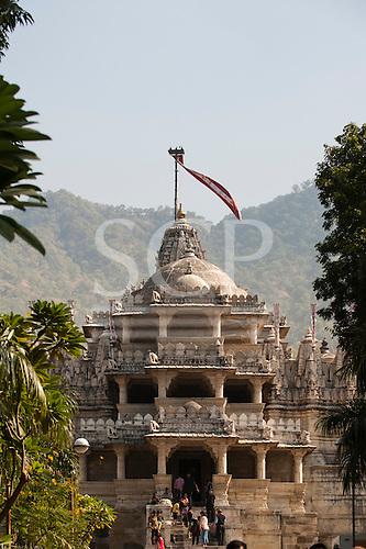 India; road from Udaipur to Jodhpur. Ranakpur Jain Temple. Thar Desert.
