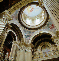 The huge crowning dome of Castle Howard seen from the Great Hall with paintings by Pellegrini