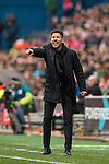 Coach Diego Simeone of Atletico de Madrid during the match Atletico de Madrid vs Valencia CF, a La Liga match at the Estadio Vicente Calderon on 05 March 2017 in Madrid, Spain. Photo by Diego Gonzalez Souto / Power Sport Images