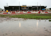 The centre green at Arena is already flooded as the crowd start to assemble in the main stand - Arena Essex vs Oxford Cheetahs - Elite League 'A' - Meeting Abandoned - 24/05/06 - (Gavin Ellis 2006)