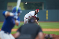 Florida State Seminoles relief pitcher Jim Voyles (42) delivers a pitch to the plate against the Duke Blue Devils in the first semifinal of the 2017 ACC Baseball Championship at Louisville Slugger Field on May 27, 2017 in Louisville, Kentucky. The Seminoles defeated the Blue Devils 5-1. (Brian Westerholt/Four Seam Images)