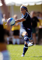 2 September 2007: George Washington University Colonials' Christy Mazzola, a Junior from Bronxville, NY, in action against the University of Vermont Catamounts at Historic Centennial Field in Burlington, Vermont. The Colonials rallied to defeat the Catamounts 2-1 in overtime during the TD Banknorth Soccer Classic...Mandatory Photo Credit: Ed Wolfstein Photo