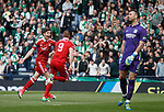 Ryan Christie celebrates with Adam Rooney after the 13 second opening goal