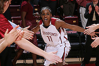 30 December 2007: Candice Wiggins during Stanford's 77-42 win over the University of Washington at Maples Pavilion in Stanford, CA.