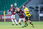 AC Milan Midfielder Jose Mauri (L) fights for the ball with Borussia Dortmund Midfielder Gonzalo Castro (R) during the International Champions Cup 2017 match between AC Milan vs Borussia Dortmund at University Town Sports Centre Stadium on July 18, 2017 in Guangzhou, China. Photo by Marcio Rodrigo Machado / Power Sport Images
