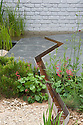 Climate Calm Garden, Nicholas Dexter, RHS Chelsea Flower Show 2012. Channel for collecting and conserving water.