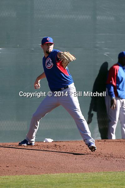 Jason Hammel - Chicago Cubs 2014 spring training (Bill Mitchell)