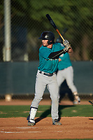AZL Mariners Connor Hoover (9) at bat during an Arizona League game against the AZL D-backs on July 3, 2019 at Salt River Fields at Talking Stick in Scottsdale, Arizona. The AZL D-backs defeated the AZL Mariners 3-1. (Zachary Lucy/Four Seam Images)