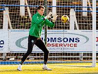 5th April 2021; Palmerston Park, Dumfries, Scotland; Scottish Cup Third Round, Queen of the South versus Hibernian; Matt Macey of Hibernian makes a start for Hibs