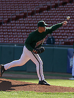 April 21, 2005:  Pitcher Chad Zerbe of the Buffalo Bisons during a game at Dunn Tire Park in Buffalo, NY.  Buffalo is the International League Triple-A affiliate of the Cleveland Indians.  Photo by:  Mike Janes/Four Seam Images