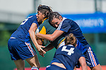 France vs South Africa during the Day 2 of the IRB Women's Sevens Qualifier 2014 at the Skek Kip Mei Stadium on September 13, 2014 in Hong Kong, China. Photo by Aitor Alcalde / Power Sport Images