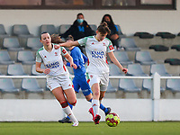 Zenia Mertens (6) of OHL with the ball during a female soccer game between Oud Heverlee Leuven and Racing Genk on the 14 th matchday of the 2020 - 2021 season of Belgian Womens Super League , sunday 28 th of February 2021  in Heverlee , Belgium . PHOTO SPORTPIX.BE | SPP | SEVIL OKTEM