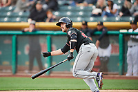 Tom Murphy (23) of the Albuquerque Isotopes bats against the Salt Lake Bees at Smith's Ballpark on April 5, 2018 in Salt Lake City, Utah. Salt Lake defeated Albuquerque 9-3. (Stephen Smith/Four Seam Images)