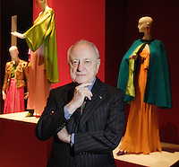 Montreal CANADA-May 2008 -<br /> Pierre Berge, lifetime companion of French fashion designer Yves Saint-Laurent present the tribute exhibit (to Saint-Laurent fashion creations) at the Montreal Museum of Fine Arts