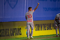 LAKE BUENA VISTA, FL - JULY 16: Kaku #10 of the New York Red Bulls leaves the game during a game between New York Red Bulls and Columbus Crew at Wide World of Sports on July 16, 2020 in Lake Buena Vista, Florida.