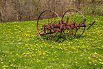 An old hay rake