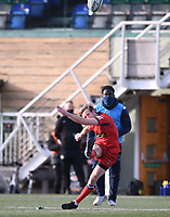 20th February 2021; Trailfinders Sports Club, London, England; Trailfinders Challenge Cup Rugby, Ealing Trailfinders versus Doncaster Knights; Sam Olver of Doncaster Knights kicks a conversion